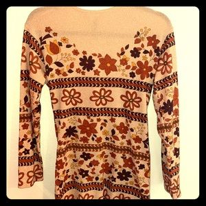 Vintage fitted long sleeve tunic